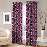 Curtain(Set of 2 Printed Eyelet Polyeste...