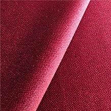 Oberon 'burdeos': terciopelo rojo tapicería de sofá cojín tela retardante de llama Material de telas Loome, Oberon 'Claret Plain' : Red, 10 x 14 cm sample