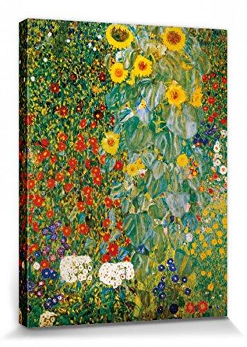1art1 60770 Gustav Klimt - Bauerngarten Mit Sonnenblumen, 1905-06 Poster Leinwandbild Auf Keilrahmen...