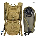 Tactical Military Hydration Pack Water Backpacks with 2.5L Upgraded Bladder Lightweight Military Molle Backpack for Hiking, Biking, Running, Walking and Climbing for Man And Woman