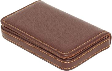 Business card holders buy business card holders online at best nisun leather pocket sized creditbuisnessdebit card holder case wallet with magnetic shut reheart Choice Image