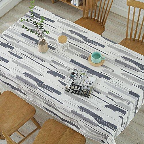 starnearby Polyester Baumwolle Graffiti Tischdecke Staub Proof Home Tee Tisch Schreibtisch Cover, grau, 55 x 55 inch