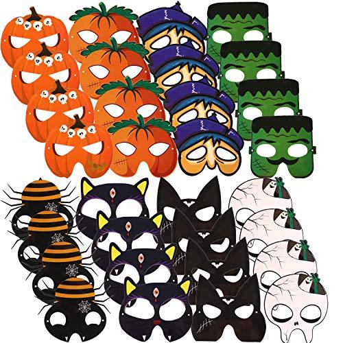 Monster Kit Erwachsene Für Kostüm - 32 Stücke Halloween Maske Karikatur Kostüm Maske Gesicht Maske DIY Halloween Maske Handwerk Kit für Halloween Party Kostüm Zubehör