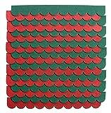 2m²-5-Sets Mini Dachschindeln,Grün,Dachpappe,Nistkasten,Vogelhäuser,Kanichenstall,Gehege,Abdeckung,Bastlersatz,Biberschwanz,Briefkasten