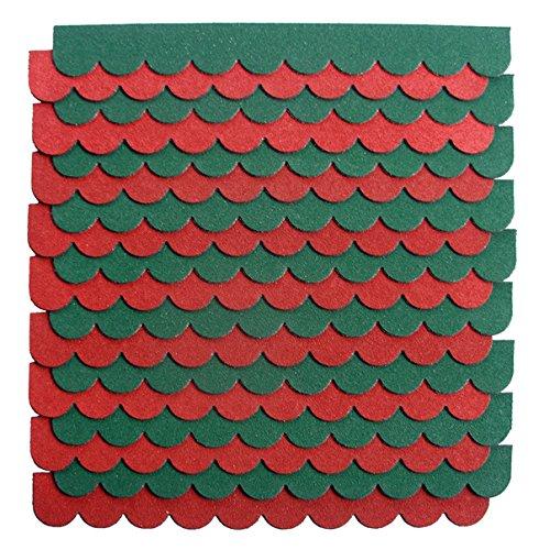 crash-marek 2m²-5-Sets Mini Dachschindeln,rot,Dachpappe,Hundehütte,Vogelhaus,Hasenstall,Gehege,Abdeckung,Biberschwanz,Sandkasten