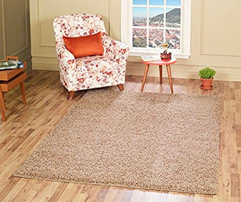 A2Z RUG SOFT SUPER THICK SHAGGY RUGS Beige 140X70 CM - 4.6X2.3 FT AVAILABLE IN 6 COLOURS AND 8 SIZES AREA