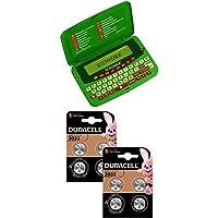 Lexibook Lot Dictionnaire électronique Officiel du Jeu de Scrabble, Vert + Pile Bouton Lithium Duracell spéciale 2032, 8…