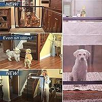 MarioRZ Magic Gate Pet Dog Safe Guard, Portátil Plegable Safe Guard Instalar En Cualquier Lugar