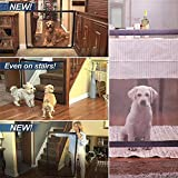 Stair Gate for Dogs Magic Gate, Safety Gate for Dog, Guard for Dogs Mesh Fence, Keep Dogs Away from Kitchen Upstairs Indoor (180 * 70, Weiß)