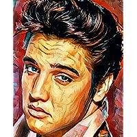 """Aluminium metal wall art """"Elvis"""""""