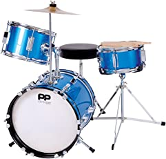 Performance Percussion PP101BL PP Drums Kinder Schlagzeug-Set (3 Stücke) blau-metallic