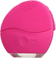 Limpiador Facial eléctrico Limpieza Profunda Recargable de Silicona Belleza Instrumento de Masaje Cepillo de Limpieza...