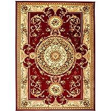 grand tapis de salon persan carpeto we love rugs rouge crme beige 200 x 300 cm xxl motif oriental avec un design contemporain pour la - Tapis Oriental Rouge