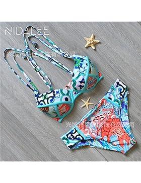 TIANLU Bikini Sexy conjuntos bañador de adelgazamiento trajes de baño de moda más Cuerda Correa Acero dúplex y...