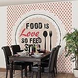 Vliestapete–keine. Isle Food ist Love–Wandbild quadratisch