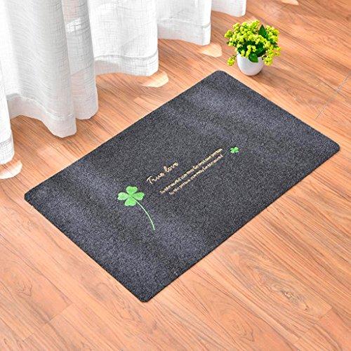 Navy Mutterschaft Tee (HZH 4 Blatt Gras Mat Küche Bad Saugfähigen Fußmatte Rutschfeste Fußmatte Tür Schlafzimmer Teppich ( Color : Navy blue ))