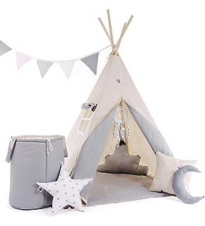 Villa Sternenstaub | Spielzelt Tipi Zelt aus Stoff inkl