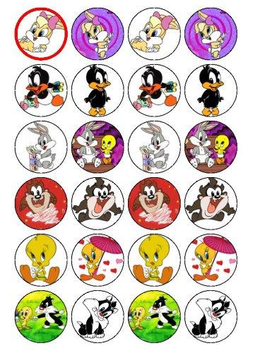 24Décorations pour cupcakes Baby Looney Tunes d'occasion  Livré partout en Belgique