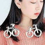Vinciann 2x Mini Ohrringe Ohrring Knopf Modeschmuck Damen Fahrrad Radfahren Sport