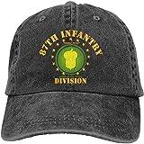 not applicable 87a Divisione di Fanteria Berretto da Baseball Regolabile ghianda Dorata Cappelli di Jeans Cowboy Sport Outdoor