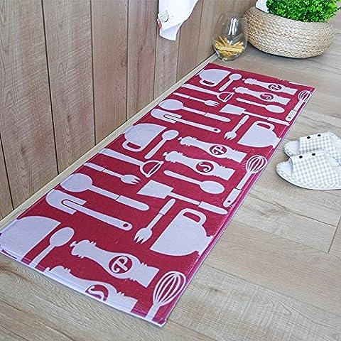 FQG * Felpudo Hall pie Home cocina para inodoro largo agua absorción de polvo y non-slippery suelos para no perder color, Tableware Puzzle, About 50*80cm