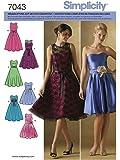 Simplicity Schnittmuster 7043 P5 Kurzgrößen Kleid Gr. 38-46