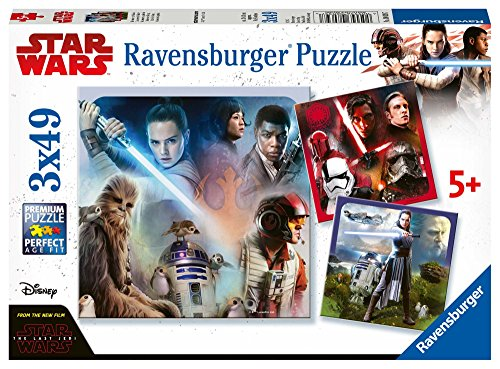 Ravensburger Star Wars Episodio VIII The Last Jedi, 3 x 49 Piezas Puzzles
