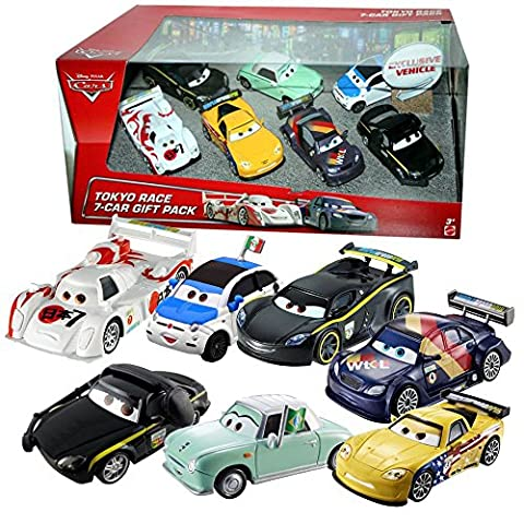 Disney Cars Cast 1:55 - Gift Pack Tokyo Race - 7 véhicules