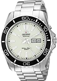 Orient Men's Automatic Stainless Steel Diving Watch, Color:Silver-Toned (Model: FEM75005R9)