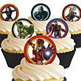 Cakeshop 12 x PRE-CUT Avengers Edible Cake Toppers - Premium Wafer Paper by Cakeshop PRE-CUT