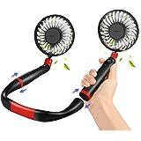 Portable Neck Fan CrazyFire Desk Fan 4000mAh Rechargeable Battery Operated Ultra Quiet Wearable Neckband Fan Aromatherapy Fan