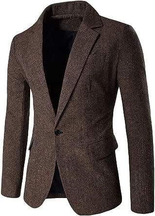 Mens Classic Blazer Party Wedding Jacket Suits Elegant Slim Fit Autumn Winter Single Breasted Vintage Retro Smart Formal Business Dinner Suits Jacket Waistcoat Size M-XXL