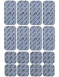 16 x Elektroden Pads, 8 * 10x5cm + 8 * 5x5cm. Selbstklebend, für Sanitas Beurer EMS TENS Geräte