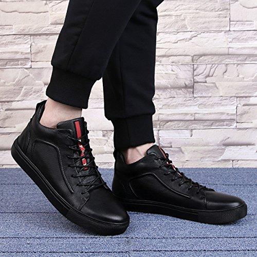 Autunno Pelle Scarpe Da Uomo Oltre A Scarpe Di Velluto Versione Coreana Morbidi Scarpe Casual BlackThick