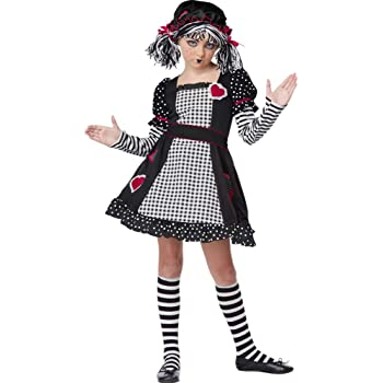 372dd1c5ec Costume Carnevale Halloween Bambola di Pezza – bambina 6-12 anni Medium