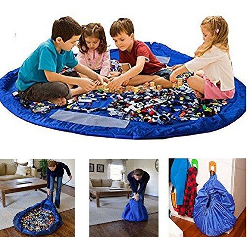 Kinder Aufräumsack Spieldecke Spielzeug Speicher Tasche Aufbewahrung Beutel Spielzeugaufbewahrung XL -