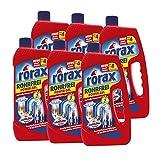 6x rorax Rohrfrei Power-Gel 1 Liter - Löst selbst Haare auf