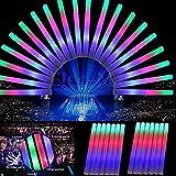 TLBBA Paquete de 30pcs LED de luz arriba que destella de la espuma del palillo del resplandor de la varita de la reunión del delirio de alegría de Baton Multi-Color para la Fiesta Concierto Vocal anima escuadra de ajuste del juego de bola LED de la alegría Baton