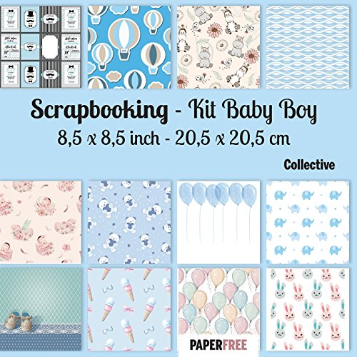 Scrapbooking Kit Baby Boy 8,5 x 8,5 inch - 20,5 x 20,5 cm por Collective