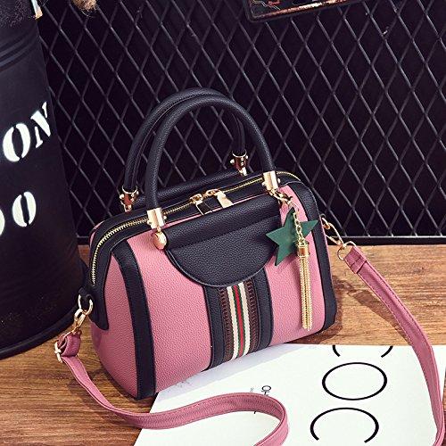 GUANGMING77 Unica Borsa A Tracolla Borsetta Borsetta _ Colore Infiorescenza Staminifera Boston Spalla,Grigio Scuro Pink