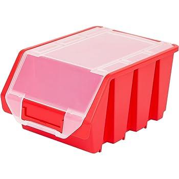 Stapelbox Stapelkiste Sortierbox Ergobox mit Deckel Gr. 3