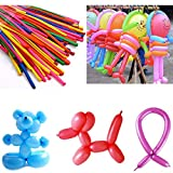 fomccu 100Latex Luftballons lang Ballon Decor für Hochzeit Geburtstag Party sortiert Color