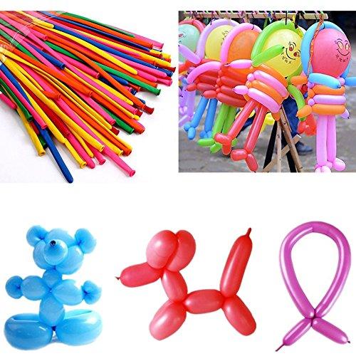 fomccu 100Latex Luftballons lang Ballon Decor für Hochzeit Geburtstag Party sortiert Color (Pastell-tie Dye)