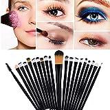 Hosaire 20 pcs/set Makeup Brush Professionelle Kosmetische Make Up Pinsel für Beauty Verfassungs Lidschattenpinsel,Schwarz