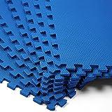 8x Bodenschutzmatten 45x45cm - 1,62m² Fitnessmatte Yogamatte Puzzlematte ✔ Stecksystem ✔ hohe Flexibilität ✔ rutschfest ✔ geräuschdämmend ✔ wärmeisolierend ✔ schneller Aufbau ✔ EVA Schaumstoff