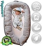 Papoose: Babynestchen Multifunktionales Kindgerechte kuschelnest - Weicher und entzückender Reduzierer Babybett 0-6 Monate