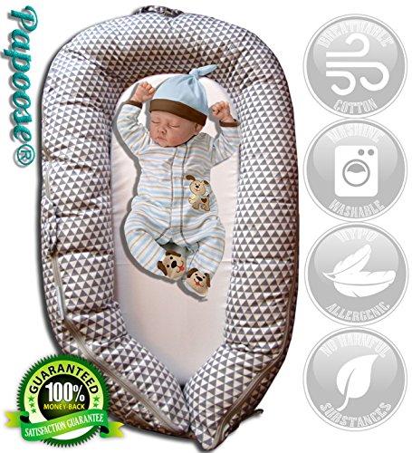Papoose Babynest Weich und kuschelig Babybett 0-8 Monate