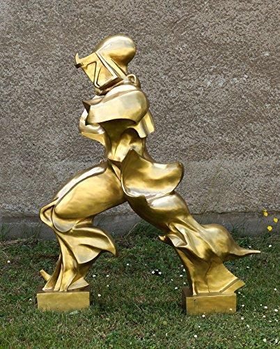 Futuristische Bronzefigur - Einzigartige Formen der Kontinuität im Raum - Umberto Boccioni Skulptur - Der Futurist Boccioni