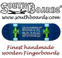 Komplett Fingerskateboard BL/GR/BL SOUTHBOARDS® Handmade Wood Fingerboard Echtholz