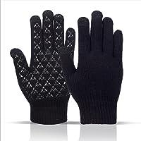 Sitthyw Handschuh Warmes rutschfeste Gloves Touchscreen Strick Warme und Winddichte Gloves für Sport Elastische…